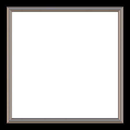 Silber und Schwarz quadratischen Foto Bild und weiß Copyspace. Standard-Bild - 6576672