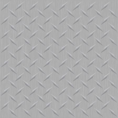 De afbeelding van een silver metallic diamant plaat die tegels naadloos in een willekeurige richting als een patroon.