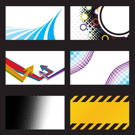 Una colección de diseños de tarjeta de visita en una variedad de estilos y temas.  Foto de archivo - 6579148