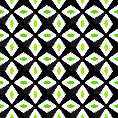 An abstract pattern with geomtric diamond shapes.
