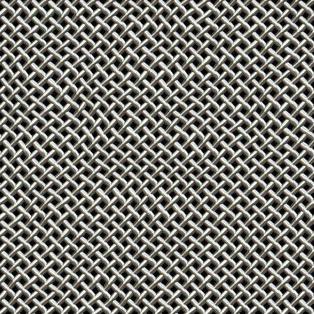 Una plata metálica de malla se encuentra en los micrófonos de textura.  Esto azulejos sin problemas como un patrón en todas las direcciones. Foto de archivo - 6624697