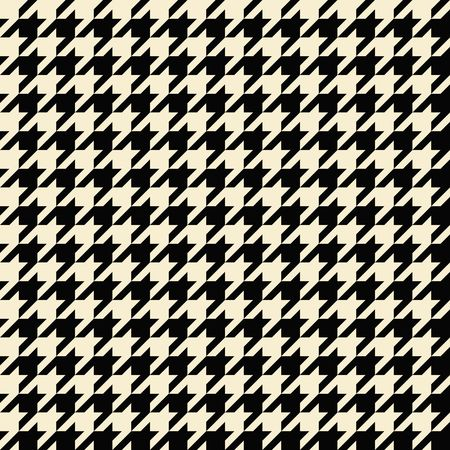 hounds: Black and tan colored seamless houndstooth pattern or texture. Stock Photo