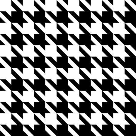 黒と白のシームレスな千鳥格子パターンやテクスチャ。