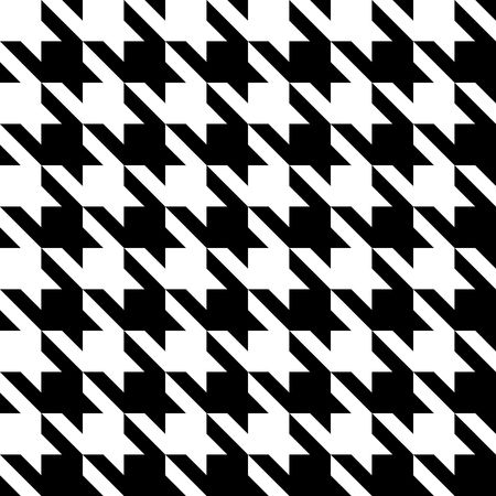 hounds: Black and white seamless houndstooth pattern or texture.
