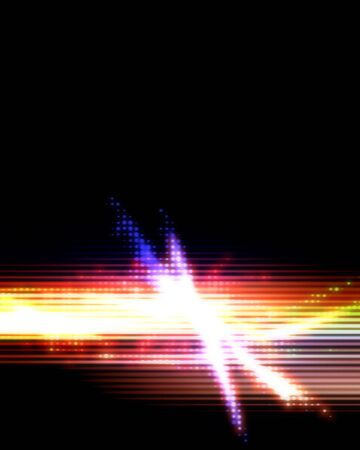 Rainbow colored abstract flare layout with a lot of copy space for your text. photo
