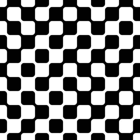 An abstract seamless pattern of black and white geometric shapes that are connected to one another. Reklamní fotografie