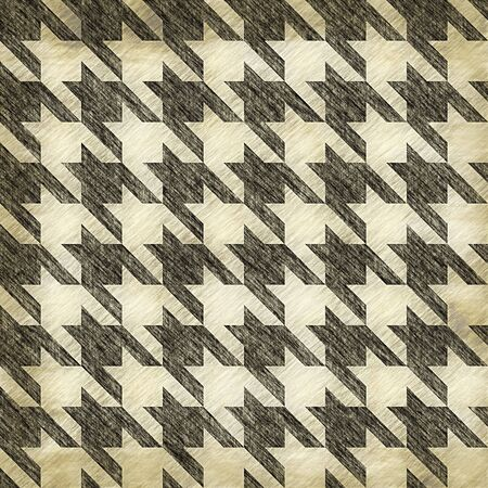 A sketched or worn looking hounds tooth pattern that tiles seamlessly in any direction. photo