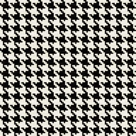 A black and white seamless hounds tooth pattern or texture with lots of detail.
