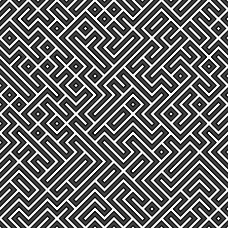 An abstract geometric maze background that tiles seamlessly in any direction.