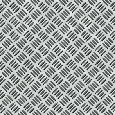 shiny metal background: A diamond plate bumped metal texture that tiles seamlessly as a pattern in any direction. Stock Photo