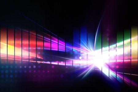 Un diseño de ecualizador gráfico de arco iris que funciona gran como un fondo o el telón de fondo. Foto de archivo - 6741228