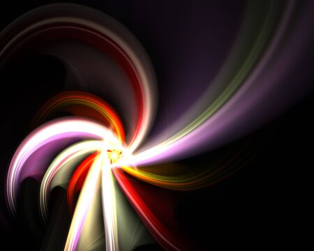 A spiraling fractal design that works great as a background or backdrop. Stock Photo - 6894284