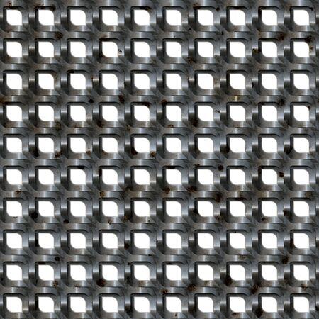 A metal brushed aluminum mesh material or texture that tiles seamlessly as a pattern. Stock Photo - 6894305