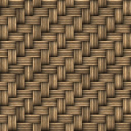 任意の方向にパターンとしてタイルをシームレスな 3 D 枝編み細工品バスケットや家具のテクスチャです。 写真素材