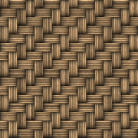 A seamless 3D wicker basket or furniture texture that tiles as a pattern in any direction. photo