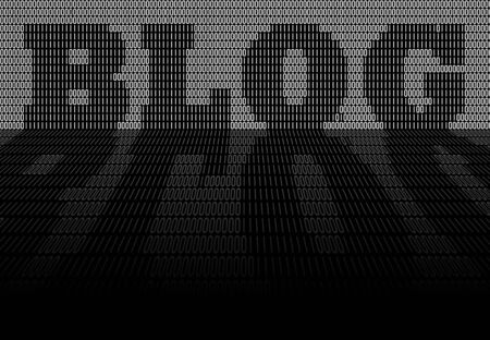zeroes: The word BLOG formed out of binary code isolated over a black background. Stock Photo