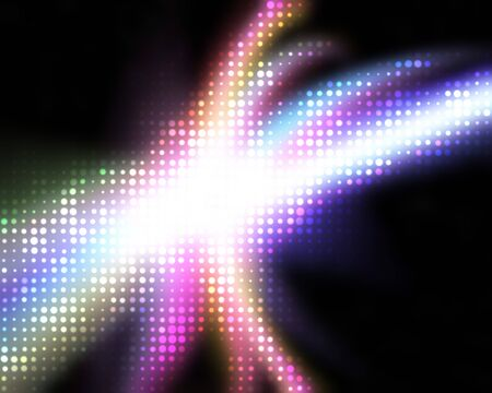 A rainbow colored halftone texture with solar flares and plenty of copyspace. Stock Photo - 6980325