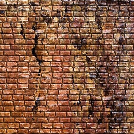Nahtlose grungy Stein Wand Textur in einem verbrannte orangefarbenen Ton. Standard-Bild - 6980284