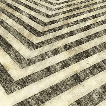 sketched: A sepia toned hazard stripes background with an aged vintage texture.