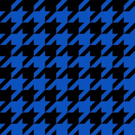 hounds: Black and blue seamless houndstooth pattern or texture as found in many popular fashion fabrics.