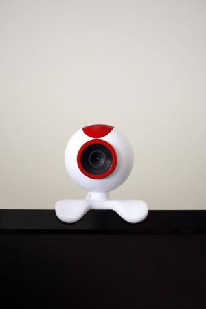A computer webcam used in video conferencing via the world wide web. Shallow depth of field. photo