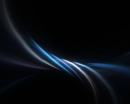 A blue fractal backdrop with abstract glowing lines of plasma. Stock Photo - 7207667