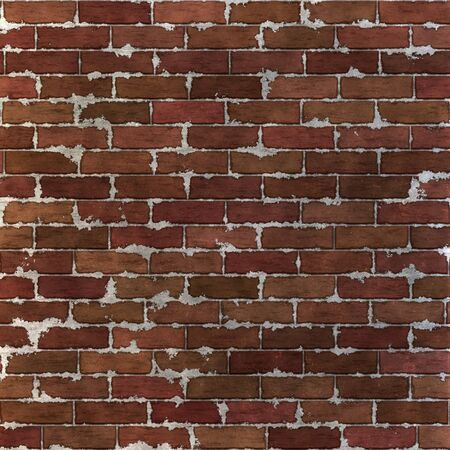 seamlessly: This grungy brick wall texture tiles seamlessly as a pattern.