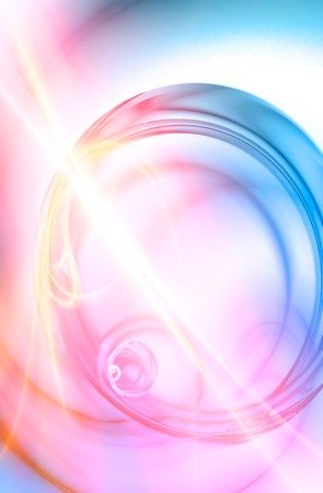 lens flare: A surreal abstract background liquid spiraling in a circular motion. Stock Photo
