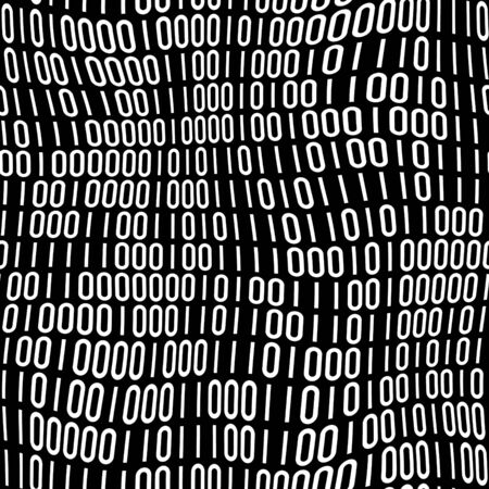 Abstract binary code pattern of 1s and 0s that tiles seamlessly in any direction. Stock Photo - 7300005