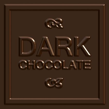 chocoholic: A dark chocolate square that tiles seamlessly as a pattern to make any background or isolated chocolate bar shape that you need.