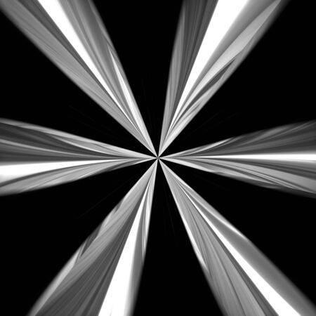 Shiny chrome vortex radiating isolated over a black background. Zdjęcie Seryjne - 7474498
