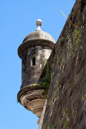An El Morro fort watch tower located in Old San Juan Puerto Rico. Reklamní fotografie
