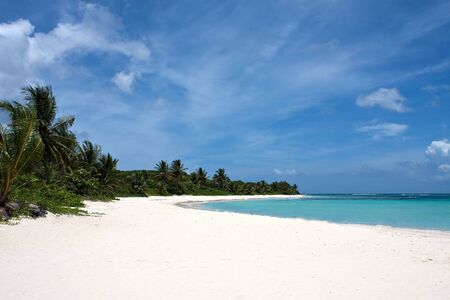 puerto rican: The gorgeous white sand filled Flamenco beach on the Puerto Rican island of Culebra.