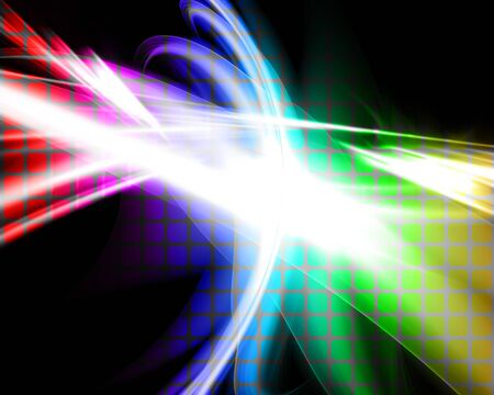 swooshes: A glowing rainbow colored fractal design that works great as a background or backdrop.