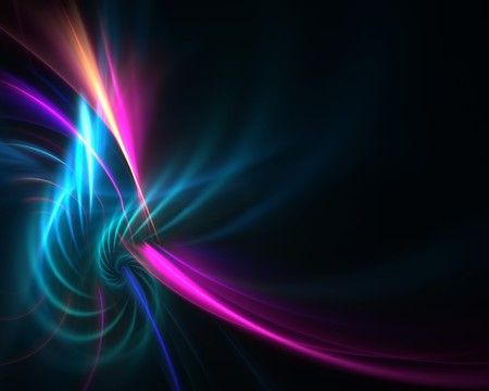 A colorful fractal backdrop with abstract glowing lines of plasma and copy space. Stock Photo - 7978989