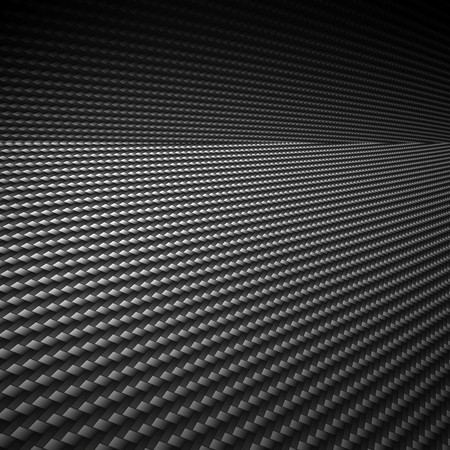 automotive industry: A realistic carbon fiber background with perspective. Stock Photo