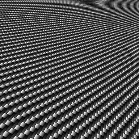 A realistic carbon fiber background with perspective. Stock Photo