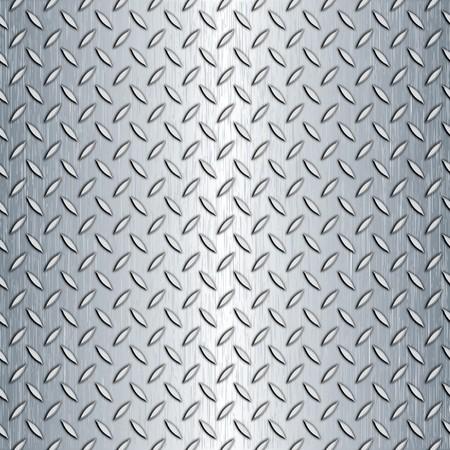 tegelwerk: Staal diamond plaat patroon. U kunt dit naadloos als een patroon aan welke grootte u moet tegel. Stockfoto