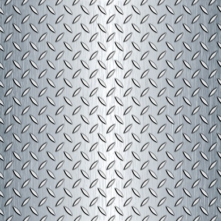 tiling: Steel diamond plate pattern. You can tile this seamlessly as a pattern to fit whatever size you need. Stock Photo