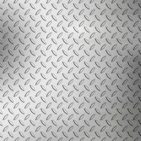 Stalen plaat achtergrond ruitpatroon met geborsteld accenten. Stockfoto