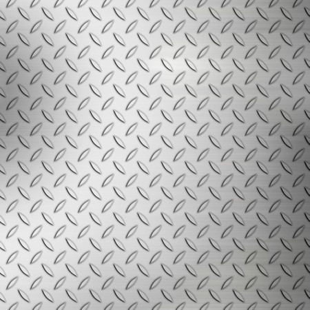 Steel diamond plate background pattern with brushed accents. photo