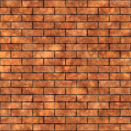 Seamless grungy brick wall texture in a burnt orange tone.