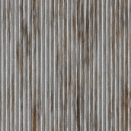stainless steel: A corrugated metal texture with rust that tiles seamlessly as a pattern. Makes a great background or backdrop when tiled.