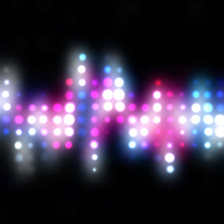 Glowing halftone dots in rows. A funky and modern looking background texture.
