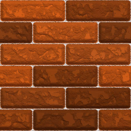 stacked stones: Seamless red brick wall texture that tiles as a pattern.