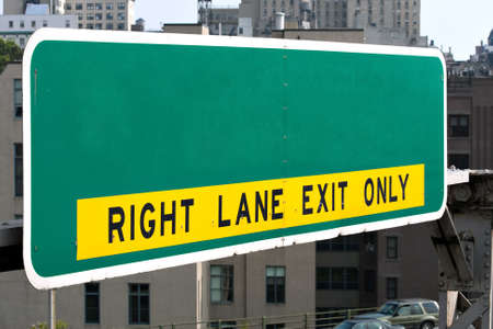 A blank highway sign you can customize with your own text or message.  Works great for conceptual themes. photo