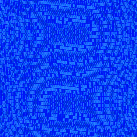 Blue binary code with ones and zeros that tiles seamlessly as a pattern. Stock fotó
