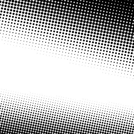 A black and white halftone background with plenty of copy space