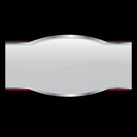 An oval shaped product sticker or packaging label for use on a box or bottle Illusztráció