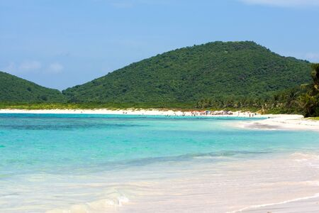 The gorgeous white sand Flamenco beach on the Puerto Rican island of Culebra. Stock Photo - 8578919